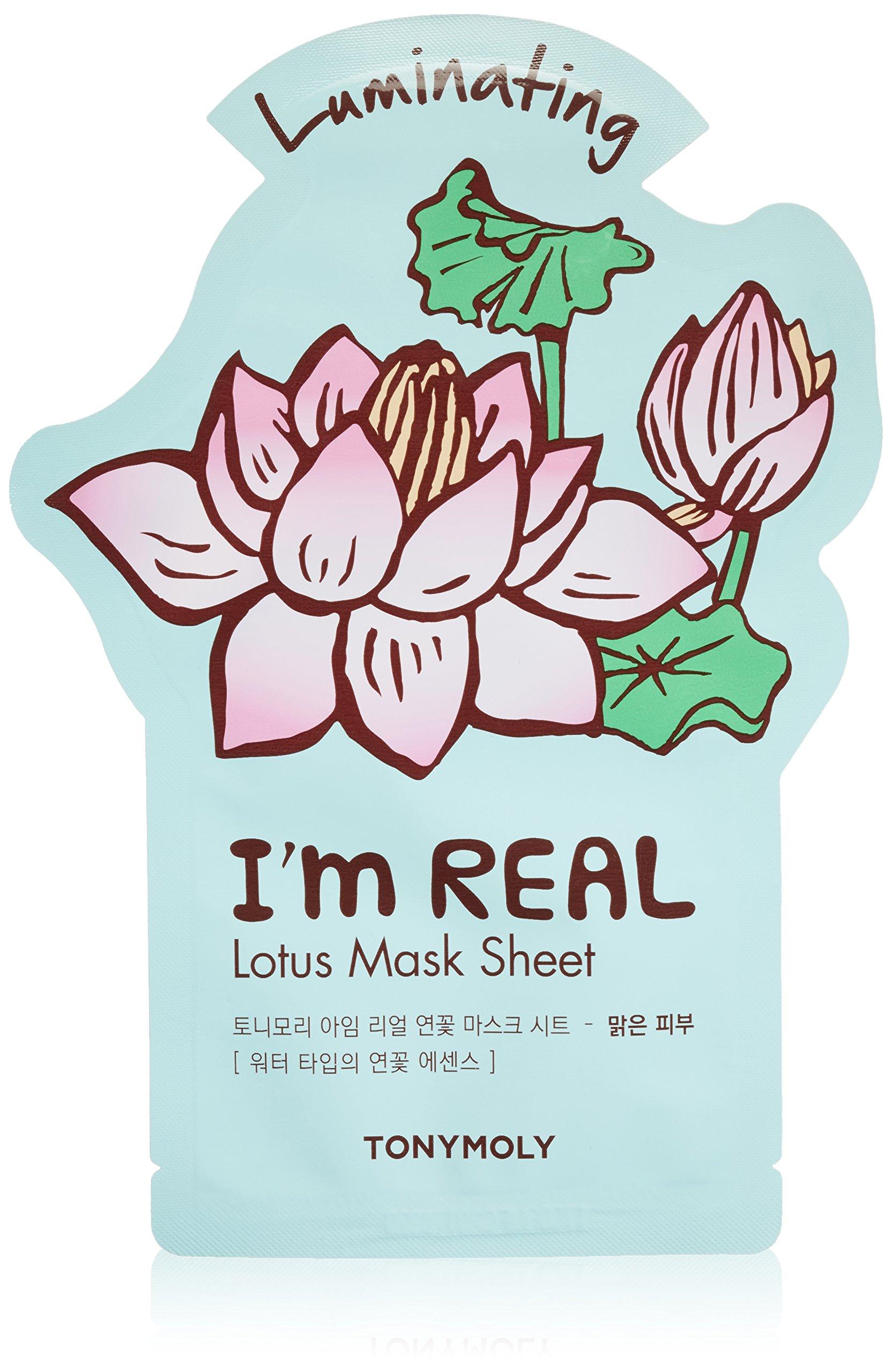 Amazon tonymoly im real lotus luminating tee mask luxury beauty izmirmasajfo
