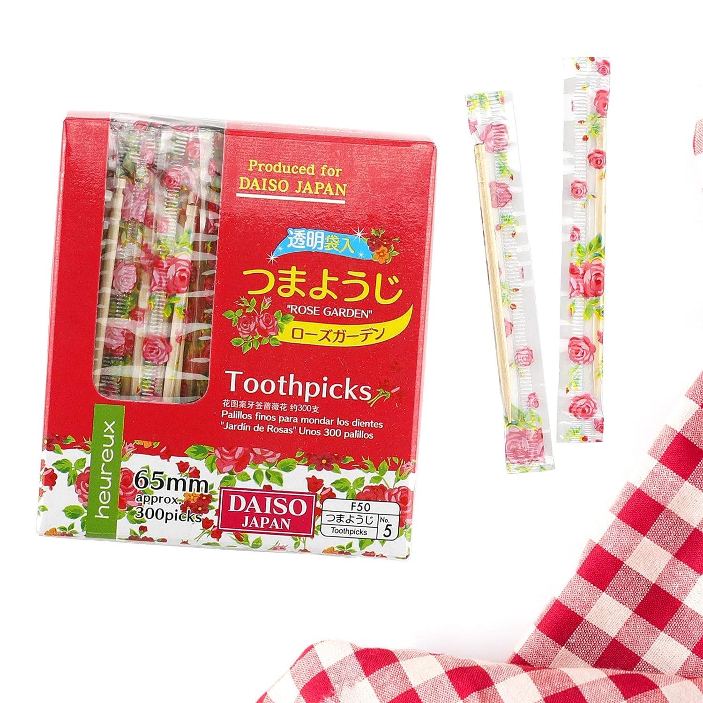 1 X 300 Individually Wrapped Wood Toothpicks Daiso Japan
