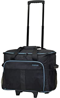 a9e7992d300f foolsGold Pro Thick Padded Sewing Machine Trolley Bag Carry Case on Wheels  - Charcoal Blue