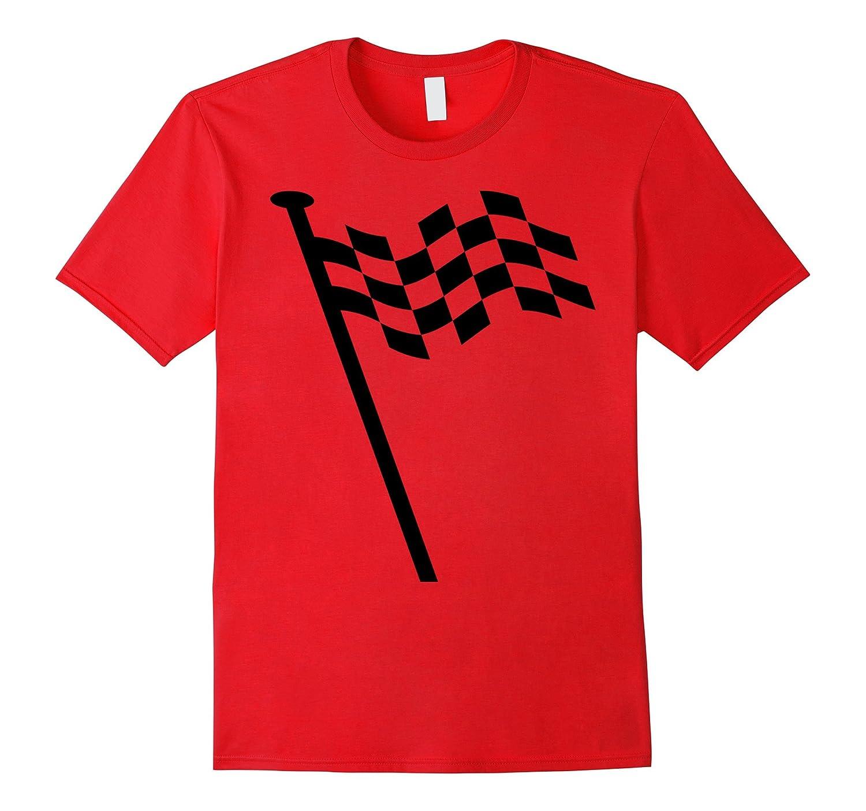 Black and White Checkered Flag Racer Tee-FL