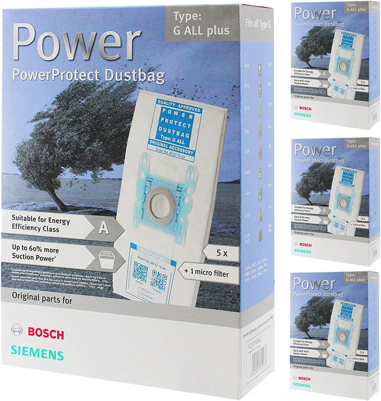 Bosch tipo G MegaFilt SuperTEX Bolsas para aspiradora + filtro (16 ...