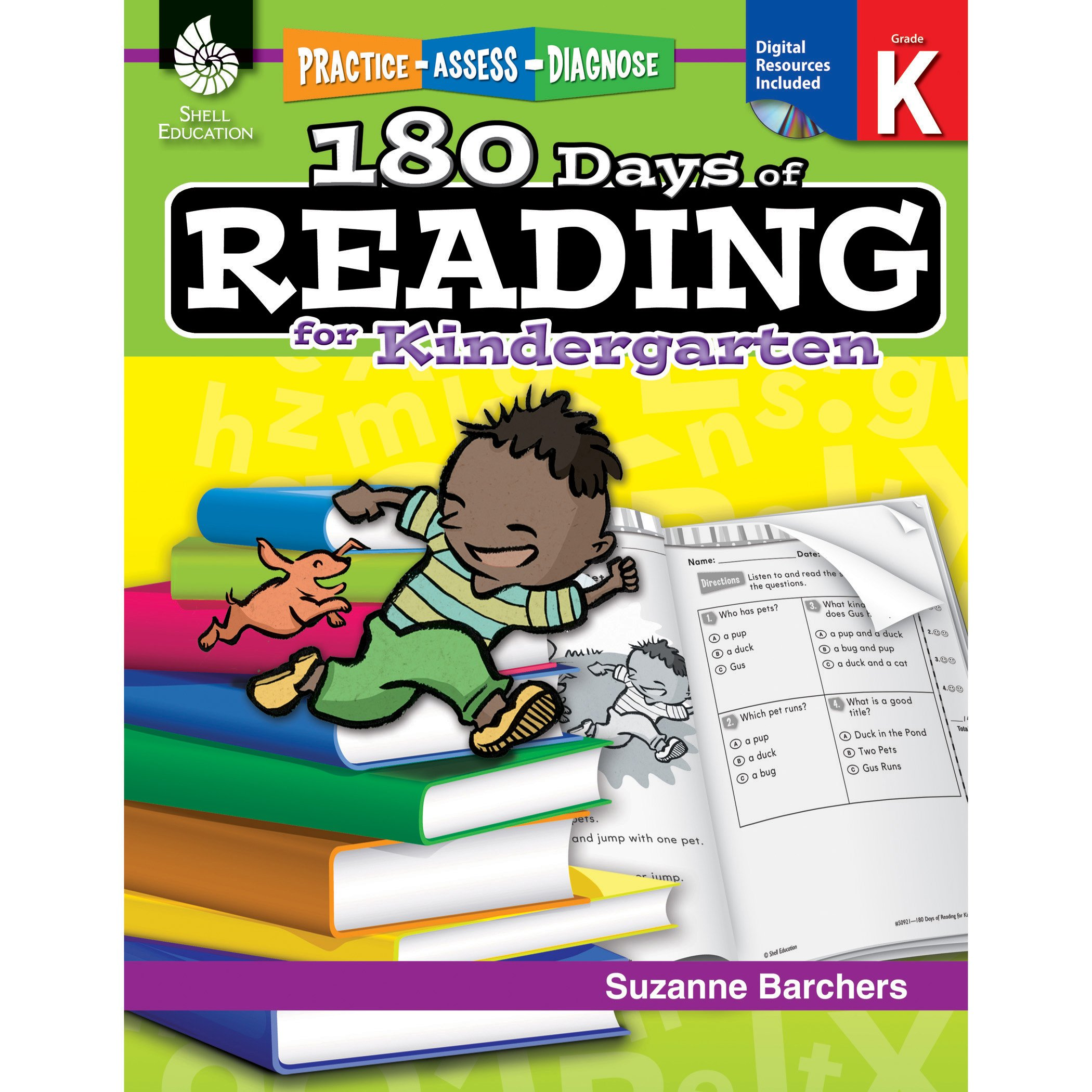 Amazon Com 180 Days Of Reading Grade K Daily Reading Workbook
