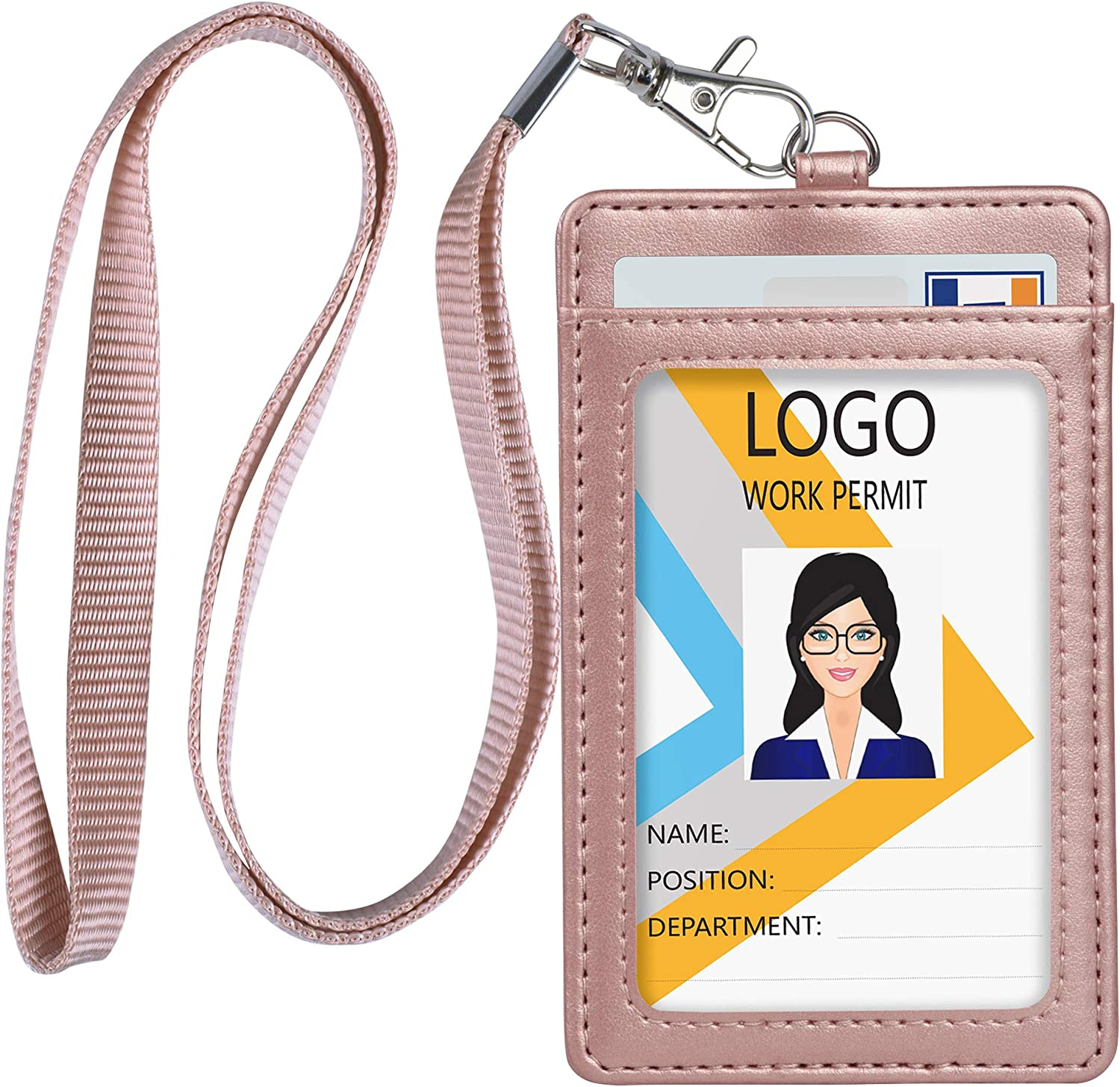 leather template ID Pass Holder leather badge holder pattern Badge holder id holder name card holder Anniversary Gift