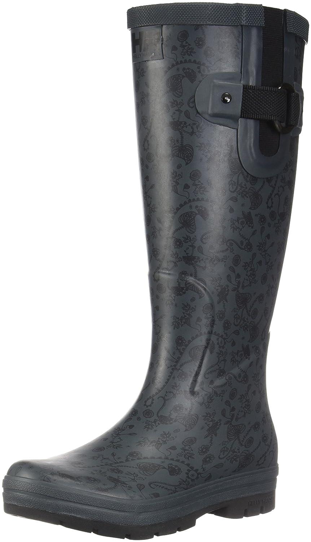 Helly Hansen Women's Veierland 2 Graphic Rain Boot B01GNSI7IE 6 M US|Rock/Jet Black/Blanc De Blanc