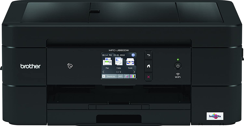 Brother MFCJ890DW - Equipo multifunción de Tinta A4 con fax, impresión dúplex y NFC (Pantalla táctil de 2.7