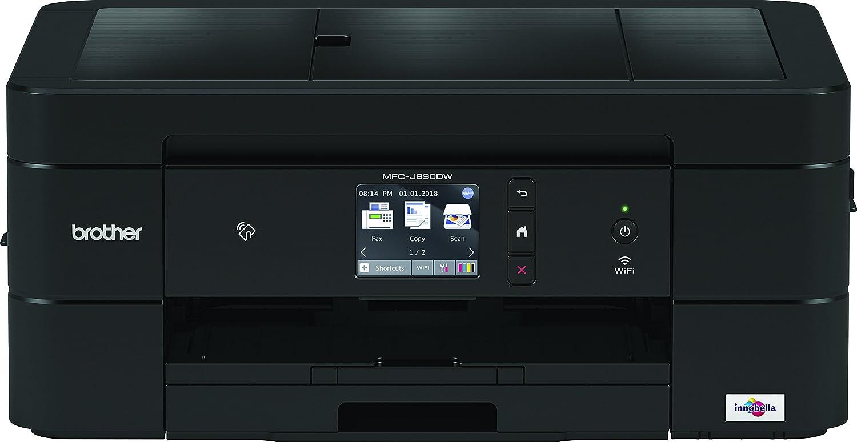 'Brother mfcj890dw Multifunktionsgerät mit Fax Tintenpatrone A4Duplex, Drucken und NFC (2.7) Touchscreen, USB 2.0, WLAN, Ethernet, WiFi Direct, 128MB Speicher schwarz 128MB Speicher schwarz