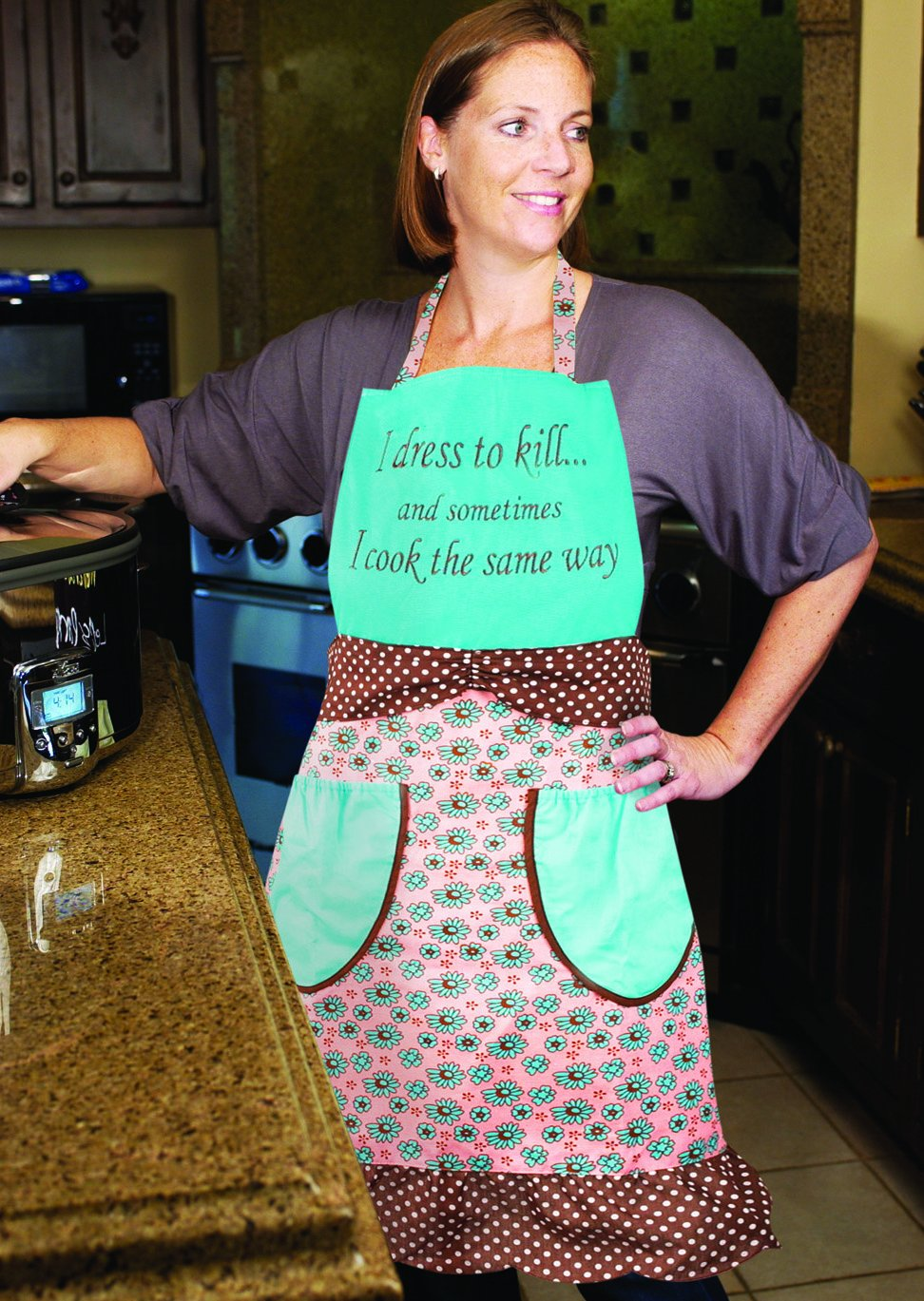 Amazon.com: Manual Vintage Style Kitchen Apron, Dress to Kill: Home ...