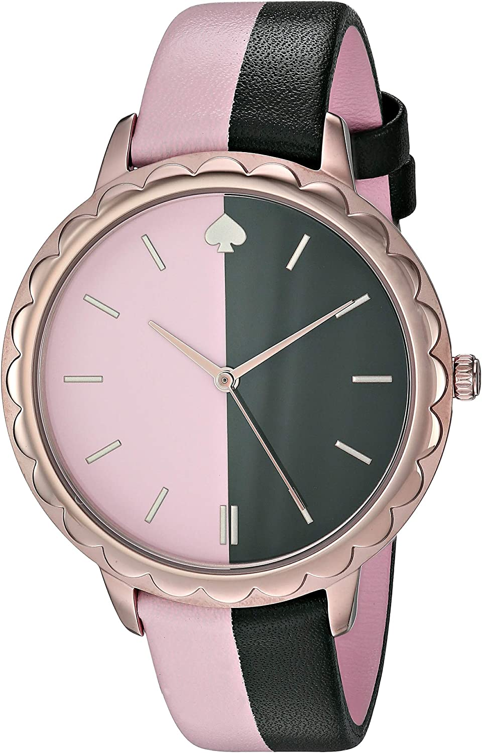 kate spade new york Women's Stainless Steel Quartz Watch with Leather Strap, Multi, 15.3 (Model: KSW1530)