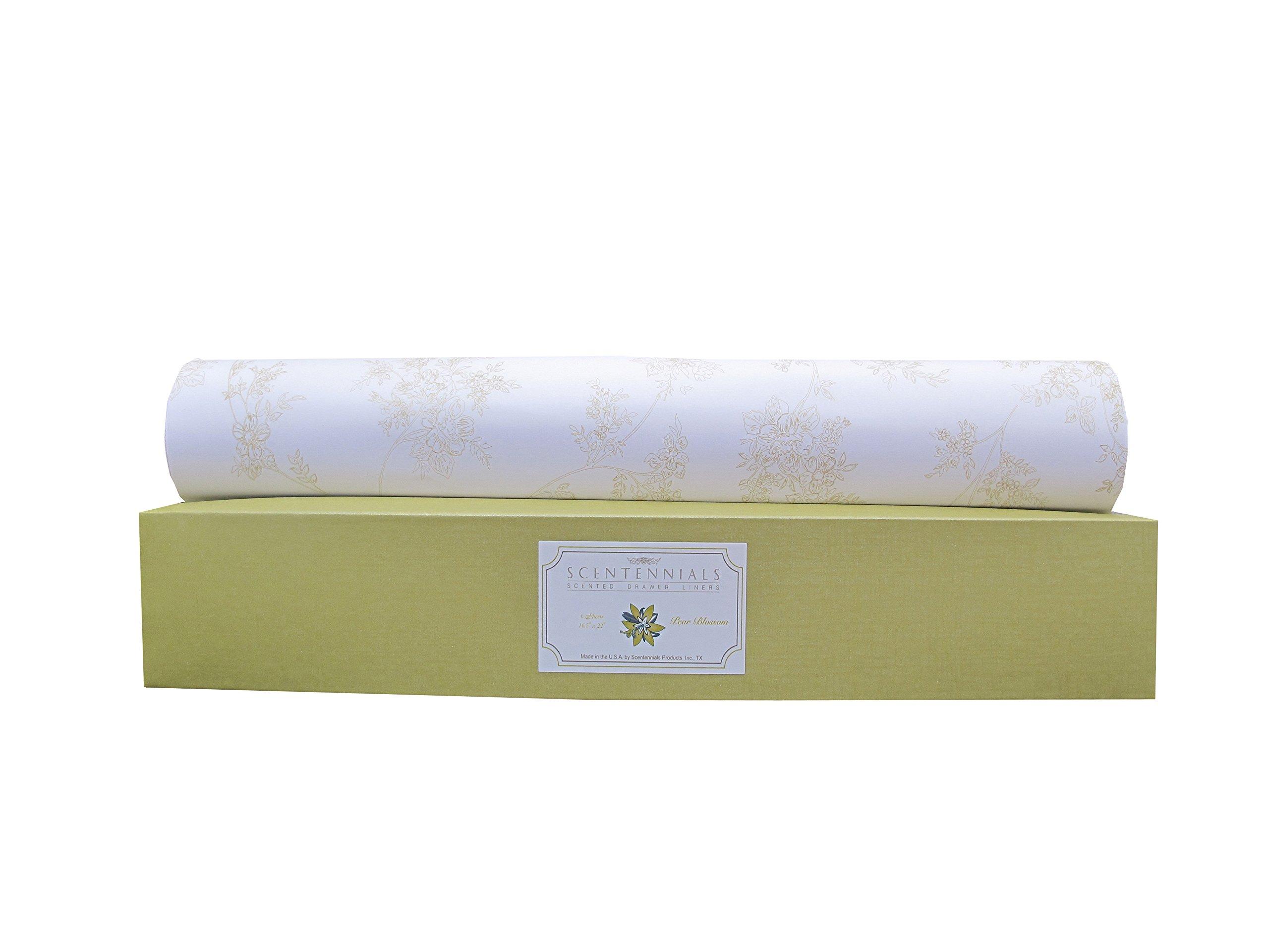 Scentennials Green Tea & Lemon (18 Sheets) Scented Drawer Liners by Scentennials Scented Drawer Liners