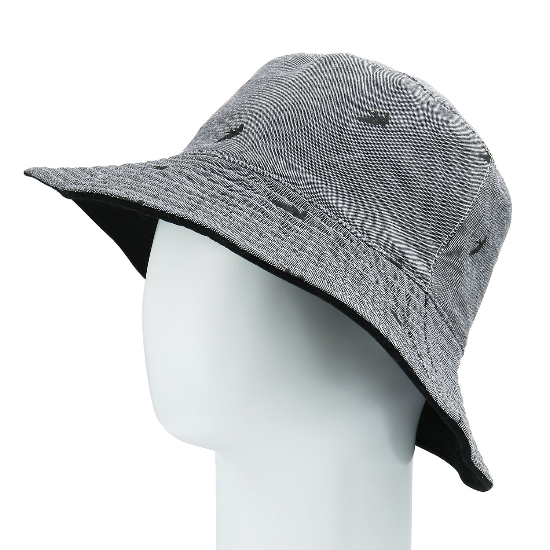 Fashion Reversible UPF 50+ Bucket Hat Wide Brim Flodable Printed Cotton Sun Hat