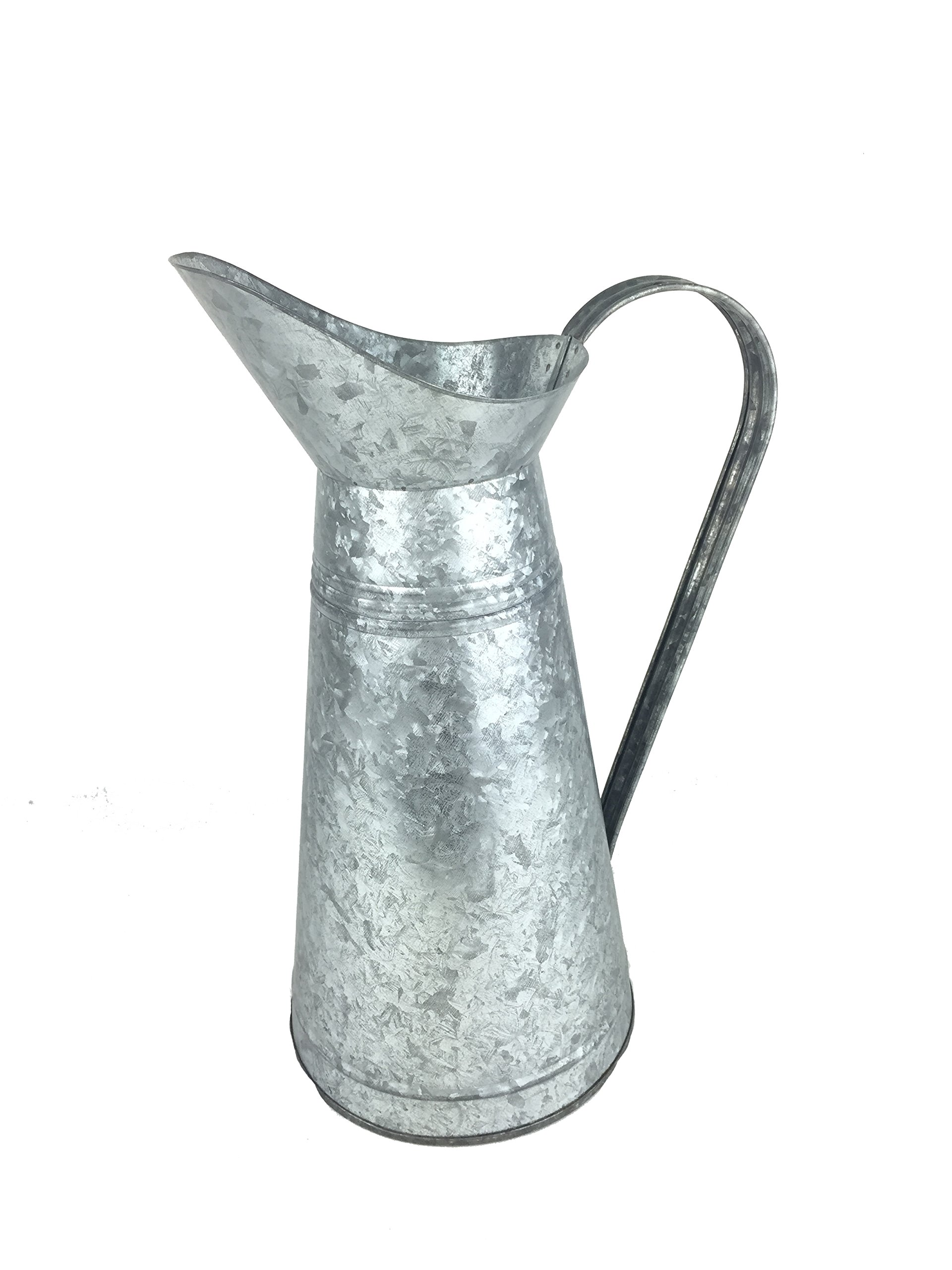 Craft Outlet 15'' Galvanized French Pitcher by Craft Outlet Inc