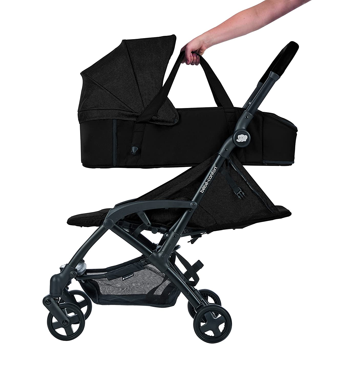 Bébé Confort CAPAZO BLANDO LAIKA Nomad Black - Capazo Blando, exclusivo para cochecito Laika, color negro