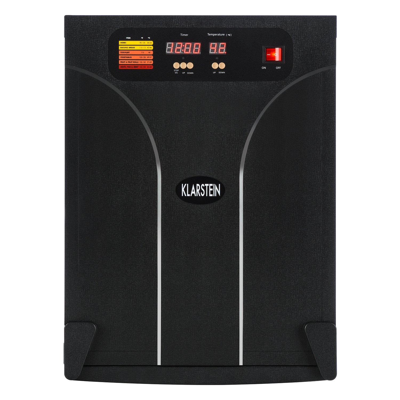Klarstein Fruit Jerky 14 /• Deshidratadora /• Desecadora /• Secadora de fruta y carne /• 14 pisos /• Montaje por inserci/ón /• 1000 W /• Circulaci/ón de aire /• Temperatura regulable /• Pantalla LCD /• Ne