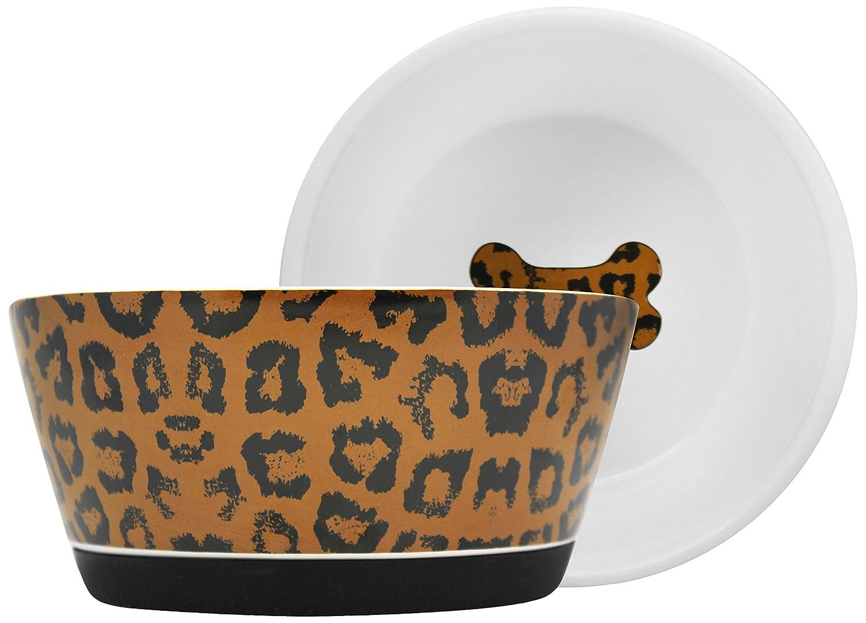 Furry Friends Rubber Bottom Bowl, Leopard