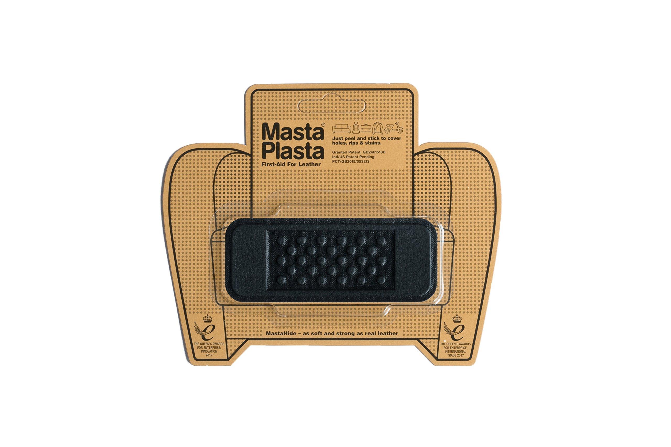 MastaPlasta Self-Adhesive Patch for Leather and Vinyl Repair, Bandage, Black - 4 x 1.5 Inch by MASTAPLASTA