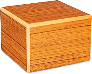 Chateau Urns - Society Collection - Keepsake Cremation Urn - Memorial Box for Ashes - Small (up to 46 lbs) - Rustic Oak Finish