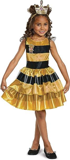 L.O.L. Dolls Classic Queen Bee Disfraz para niños, Amarillo ...