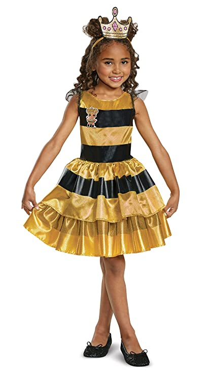 Disguise Queen Bee Classic Child Costume, Yellow, Size/(4-6x)