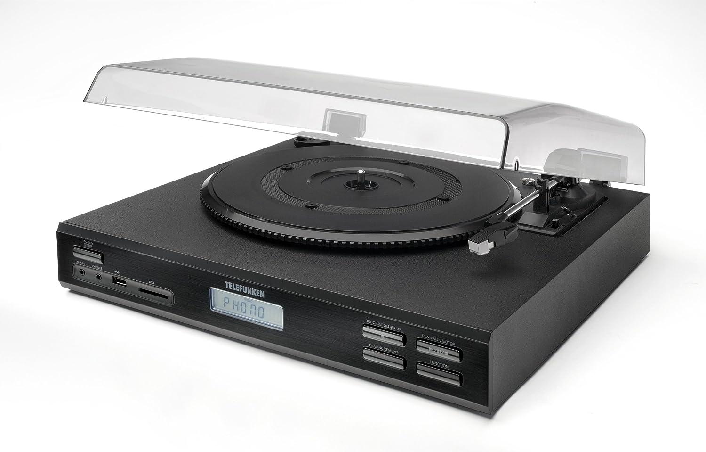 Telefunken T6M Tocadiscos (USB 2,0, SD-ranura para tarjetas, Phono ...