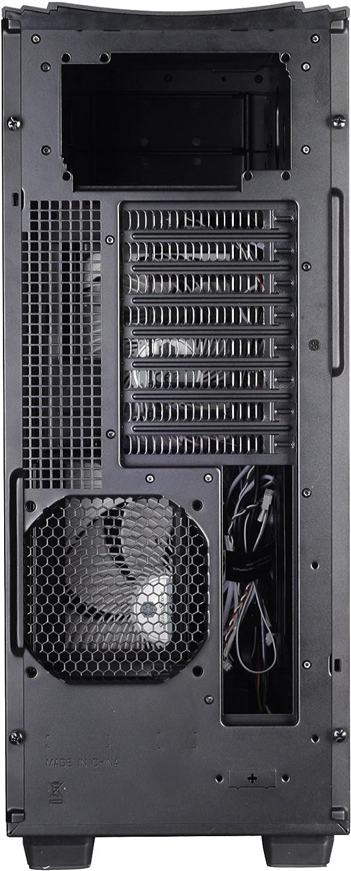 Rendimiento silencioso con alto flujo de aire ventana Carcasa de ordenador Fortress Gran Torre EATX ATX negro con puerta SilverStone SST-FT04B-W