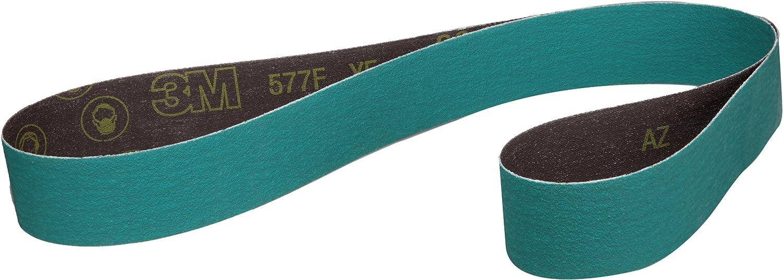 Wet//Dry 3M Cloth Belt 577F 2-1//2 Width x 60 Length Pack of 50 Green 36 Grit Zirconia Alumina