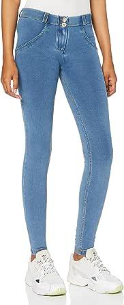 Freddy Pantalón WR.UP® superskinny de Talle y Largo estándar en Punto de Denim Claro - Jeans Borrar-Costuras Amarillo - Large
