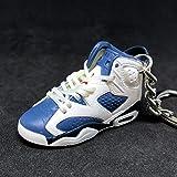 931a2ecef1bd Air Jordan VI 6 Retro Olympic Navy Blue White OG Sneakers Shoes 3D Keychain  1