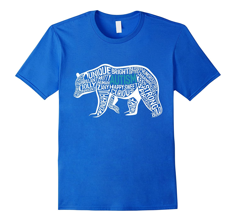 bbae77a1a4da Autism Bear Makeup Words T-shirt. Autism Awareness Shirts-BN – Banazatee