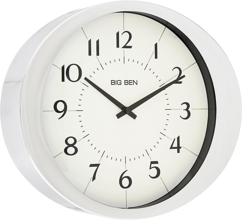 9 WESTCLOX ROUND WALL CLOCK BURGUNDY 46983