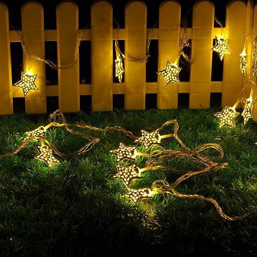 5 m 20 LED Star luce stringa di luci per esterni paesaggio, terrazzo ...