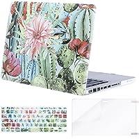 Mosiso - Carcasa rígida de plástico con diseño de Teclado y Protector de visualización Solo Compatible con MacBook Pro de 13 Pulgadas con CD-ROM, Cactus Flower, 33 cm