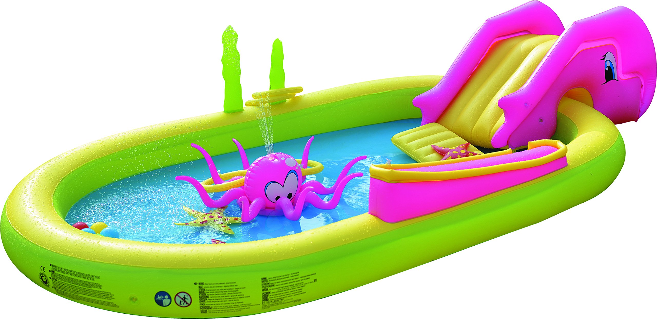 Jilong Giant Inflatable Sea Animal Kiddie Play Pool - Inflatable Pool for Kids - Complete with Pool Accessories and Water Activities - 117'' X 65'' X 22'' by JILONG  (Image #7)