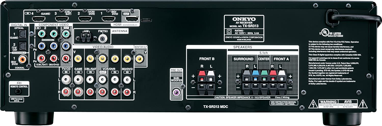 amazon com onkyo tx sr313 5 1 channel home theater a v receiver rh amazon com onkyo tx-sr313 manual español Onkyo Tx- Sr373