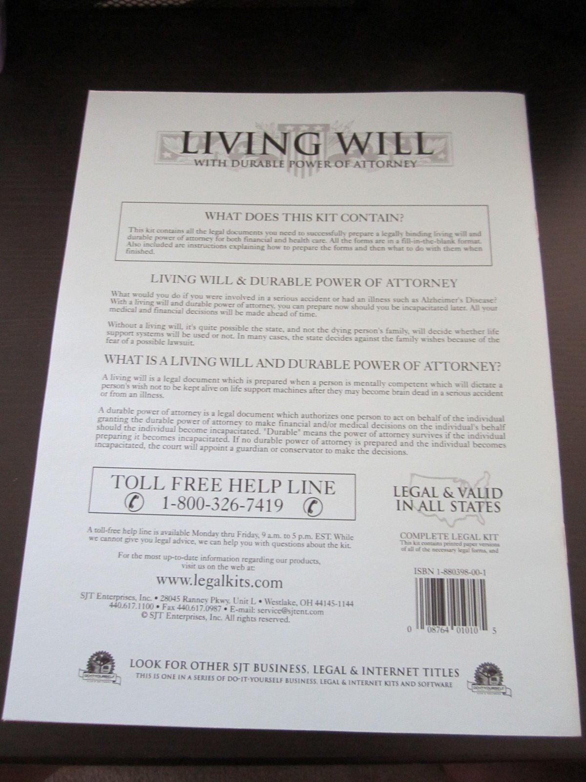 Living will kit do it yourself valid in all 50 states timothy j living will kit do it yourself valid in all 50 states timothy j smith 9781880398005 amazon books solutioingenieria Image collections