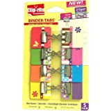 Clip-rite Binder-Tabs Filing Binders, Small, Spring, Assorted, 8-Piece (CRT-052)