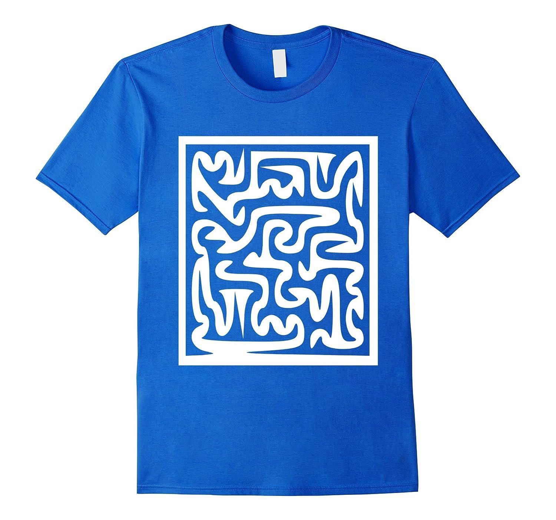 Nirvana Maze T-Shirt Labyrinth Buddhism Buddhist Buddha Tee-Vaci