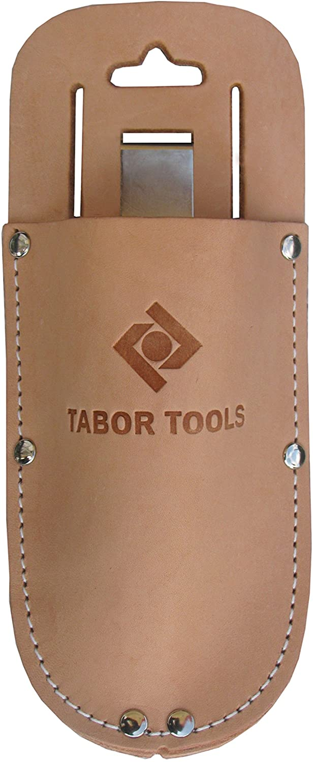 TABOR TOOLS Leather Holster for Pruning Shears, Sturdy Craftsmanship Tool Belt Accessory Sheath, Fits Most Garden Scissors.H1.