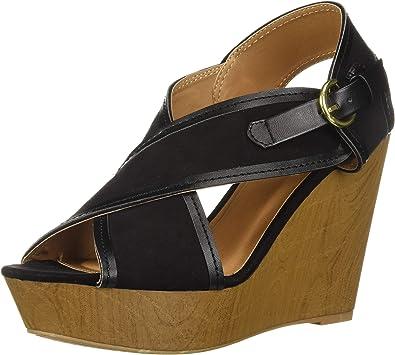 Amazon.com   Qupid Women's Wedge Sandal