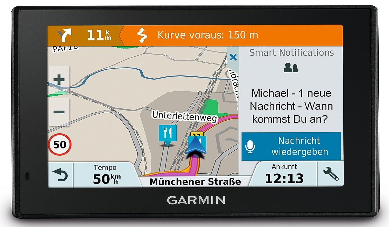 Garmin Drivesmart 51 EU LMT-D Navigatore 5' Smart, Mappa Italia Europa Completa, Aggiornamento a Vita e Servizi Live via Bluetooth e Infotraffico Digitale DAB 010-01680-13