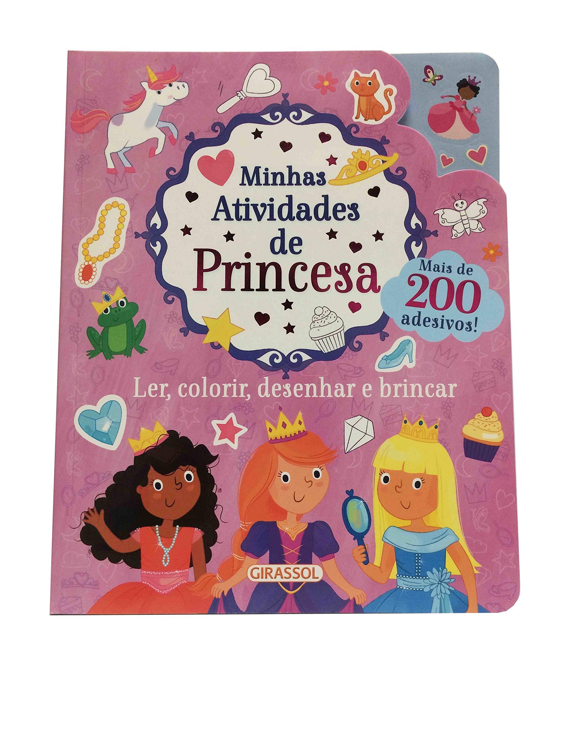 Minhas Atividades De Princesa Ler Colorir Desenhar E Brincar