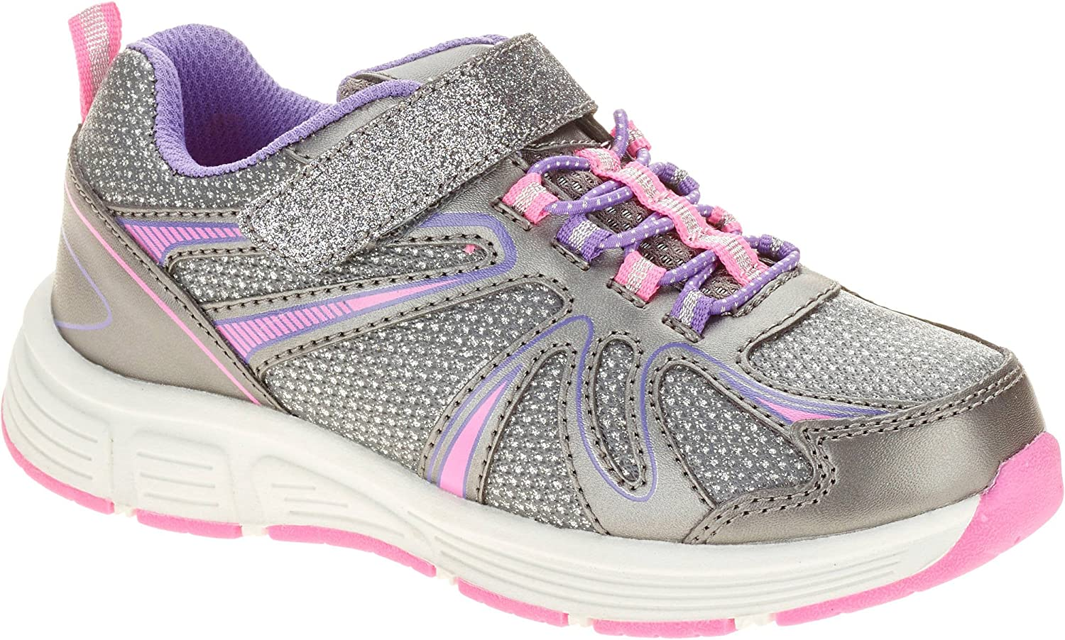Silver-Pink Glitter Running Shoe: Shoes