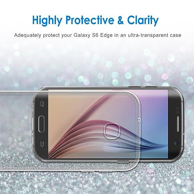 JETech Funda para Samsung Galaxy S6 Edge, Anti-Choques y Anti-Arañazos, Transparente: Amazon.es: Bricolaje y herramientas
