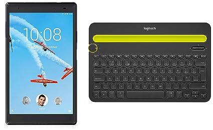 Lenovo Tab4 8 Plus Tablet  8 inch, 16 GB, Wi Fi + 3G LTE, Voice Calling , Black+ Multi Device Bluetooth Keyboard Tablets