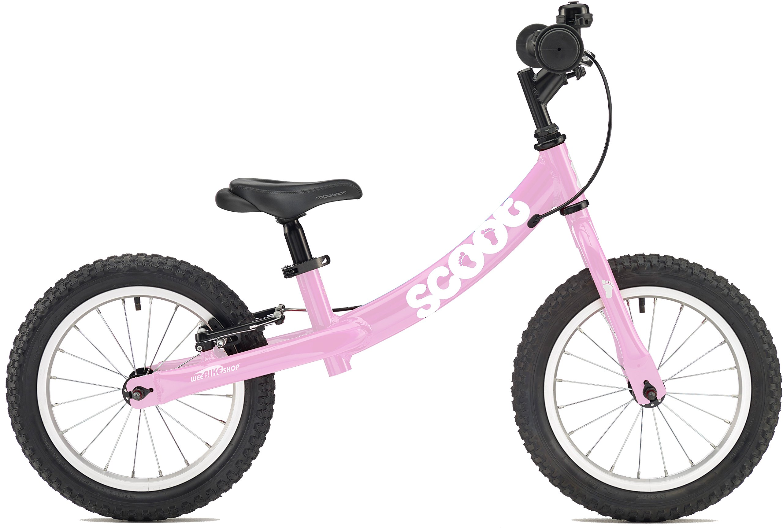 2018 US Edition Scoot XL 14'' Balance Bike in Pink (Age 4-7) by Ridgeback UK