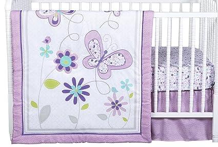 Trend Lab - Juego de cama de 4 piezas, diseño de mariposas ...