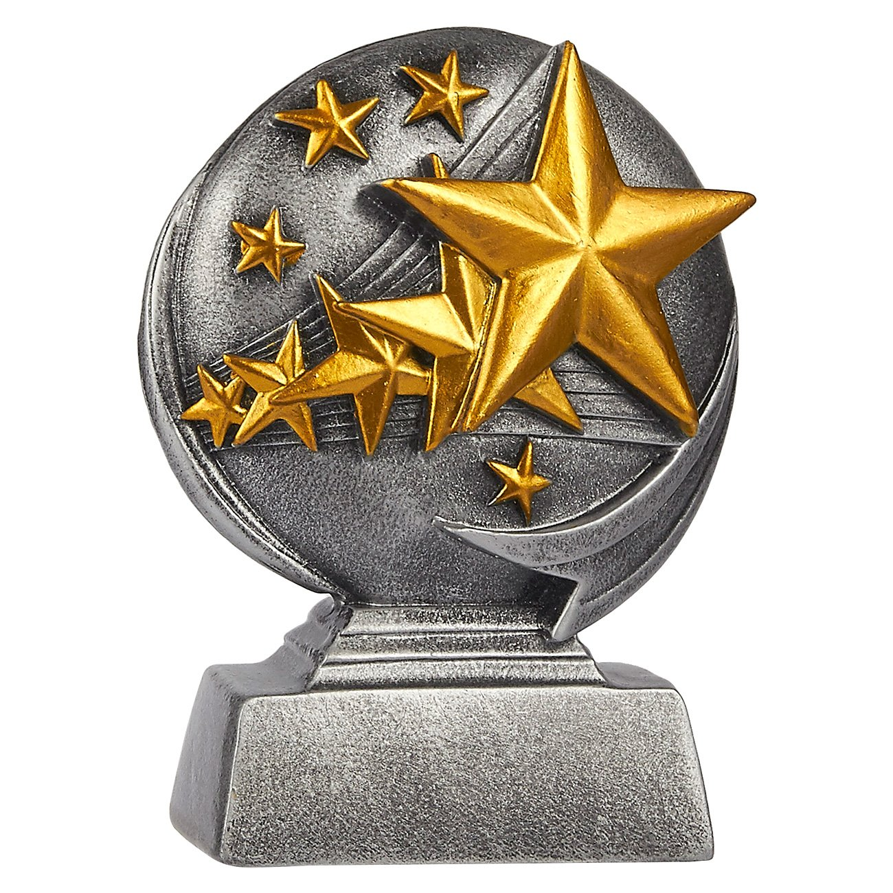 Juvale Star Trophy Parties Small Resin 5 Stars Award Trophy for Tournaments Competitions 4 x 5 x 1.5 Inches