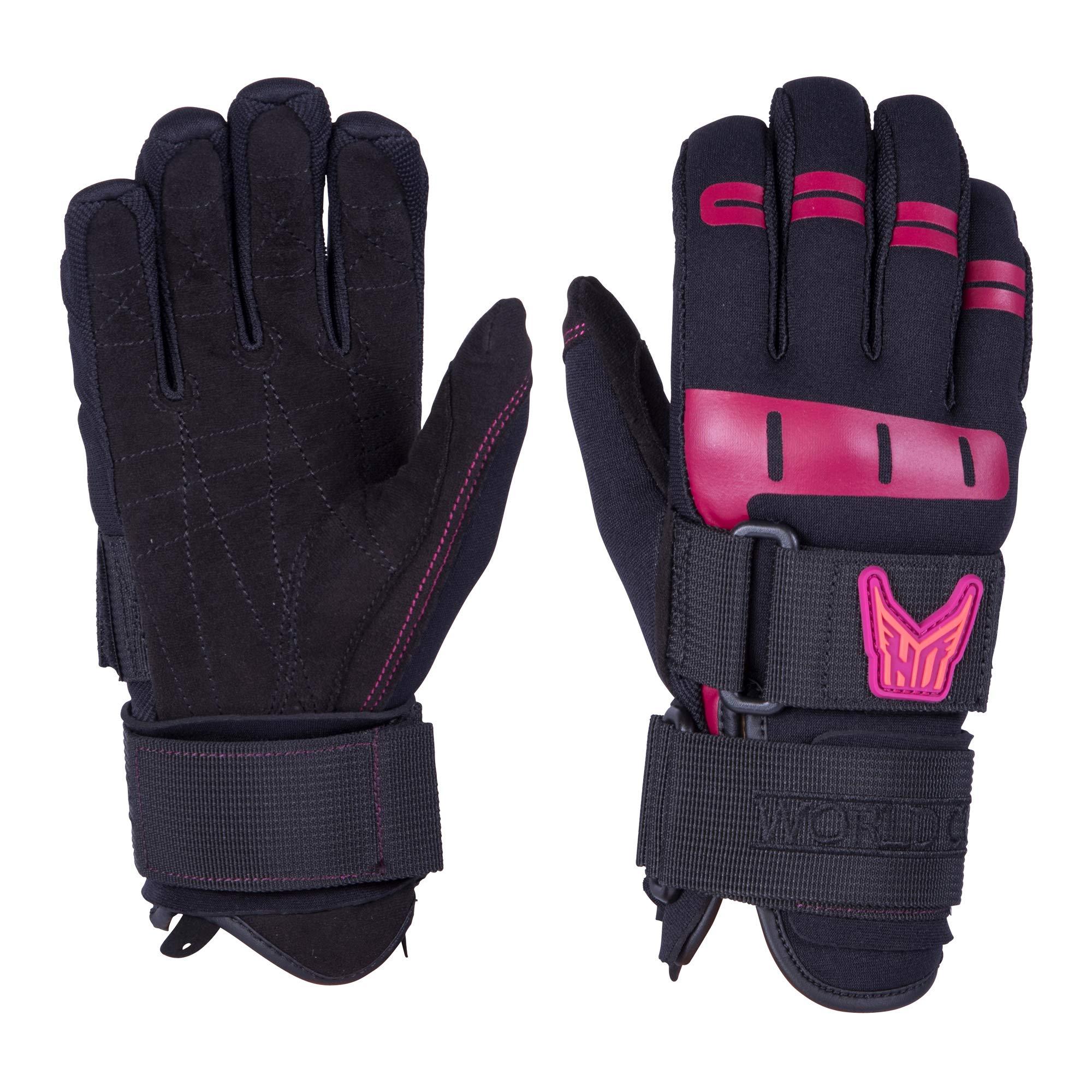 Ho Women's World Cup Waterski Gloves Black (L) by HO Sports