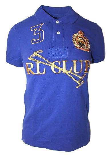 4e791c6d Polo Ralph Lauren Womens Custom RL Club Top T-Shirt Mesh Crest Royal Blue  FT85 (Small): Amazon.co.uk: Clothing