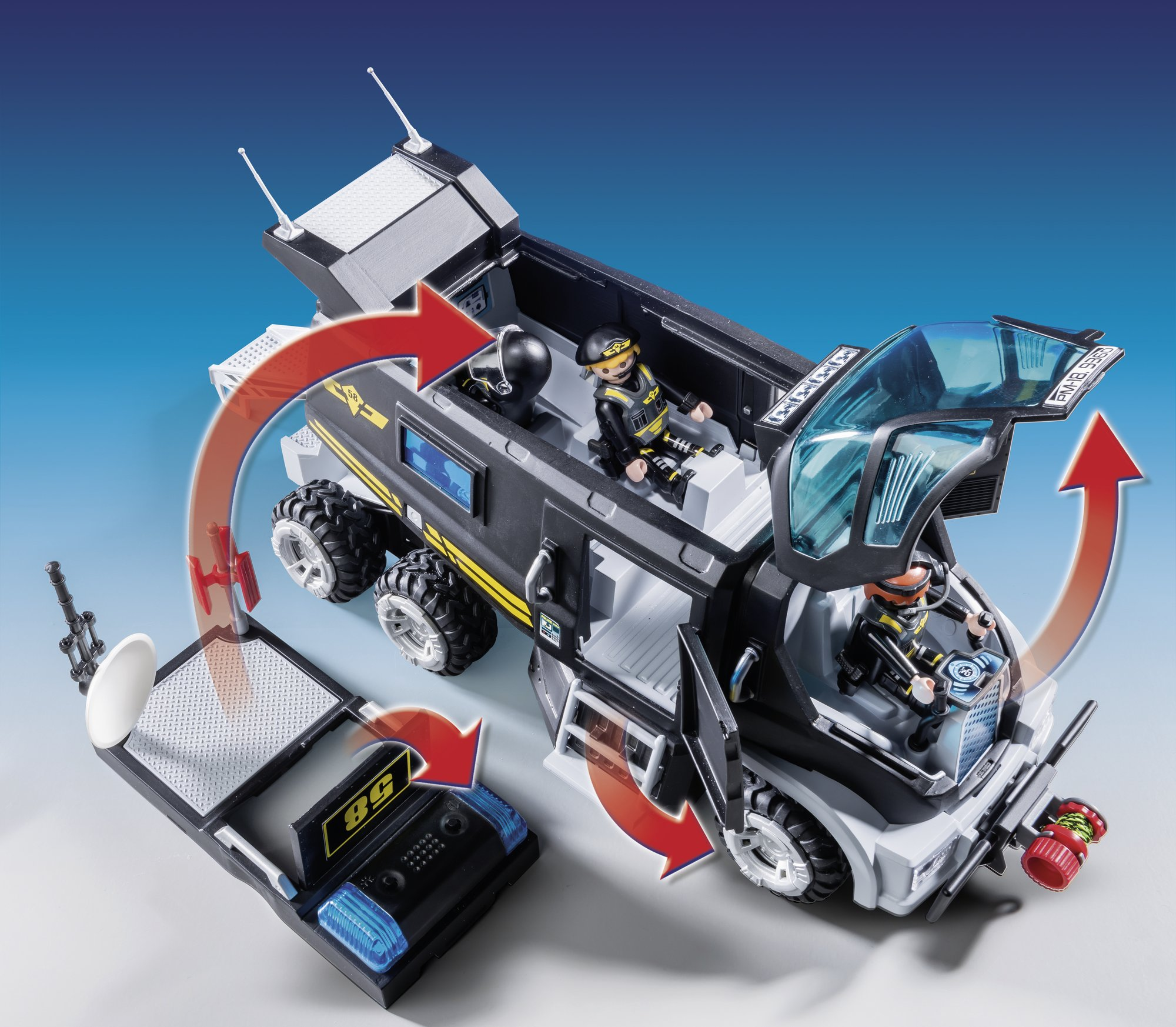 PLAYMOBIL 9360 SWAT Team truck with light and sound - NEW 2018 by PLAYMOBIL® (Image #3)