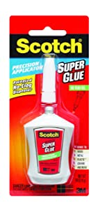 Scotch Super Glue Gel in Precision Applicator.14 Ounces (AD125)